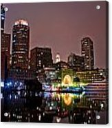 Boston Harbor At Night  Acrylic Print