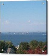 Boston Harbor From Hull Acrylic Print