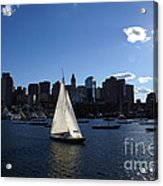 Boston Harbor Acrylic Print by Olivier Le Queinec