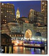 Boston Harbor Party Acrylic Print