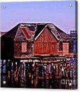 Boston Harbor Pier Dwelling Acrylic Print