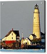Boston Light Acrylic Print