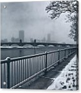 Boston Longfellow Bridge-snow Cityscape Acrylic Print