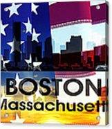 Boston Ma Patriotic Large Cityscape Acrylic Print