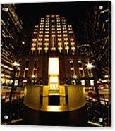 Boston - Night At Post Office Square Acrylic Print