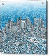 Boston Panorama Abstract 2 Acrylic Print