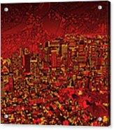 Boston Panorama Red Acrylic Print