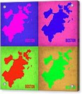 Boston Pop Art Map 1 Acrylic Print