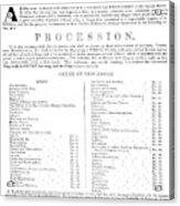 Boston Procession, 1789 Acrylic Print