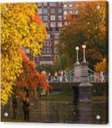 Boston Public Garden Lagoon Bridge Acrylic Print