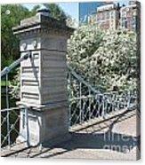 Public Garden - Boston Massachusetts Acrylic Print
