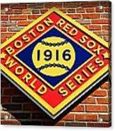 Boston Red Sox 1916 World Champions Acrylic Print