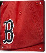Boston Red Sox Baseball Cap Acrylic Print