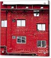 Boston Red Wall Acrylic Print