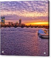 Boston Sky Acrylic Print by Joann Vitali