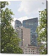 Boston Skyline Among The Trees Acrylic Print