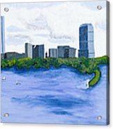 Boston Skyline Acrylic Print by Carmela Cattuti