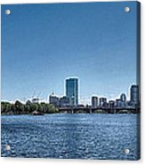 Boston Skyline II Acrylic Print