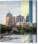 Boston Skyline II Acrylic Print