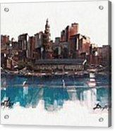 Boston Skyline  Number 1 Acrylic Print