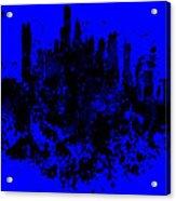 Boston Skyline Paint Splash 2 Acrylic Print