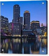Boston Skyline Seaport District Acrylic Print