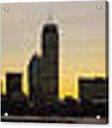 Boston Skyline Sunset Acrylic Print