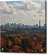 Boston Skyline View From Mt Auburn Cemetery Acrylic Print