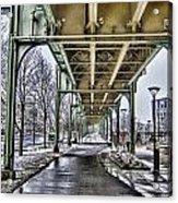 Boston Streetcar Overpass-cambridge V2 Acrylic Print