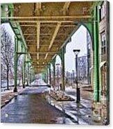 Boston Streetcar Overpass Acrylic Print