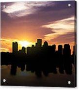 Boston Sunset Skyline  Acrylic Print