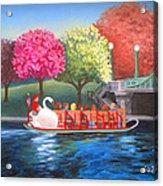Boston Swan Boat Acrylic Print
