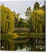 Botanic Garden Bridge At Dusk Acrylic Print