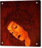 Boticelli Madonna Vignette Acrylic Print