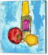Bottle Apple And Lemon Acrylic Print by Skip Nall