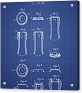 Bottle Cap Patent 1899- Blueprint Acrylic Print