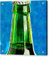Bottle Neck Against Blue Painting Acrylic Print