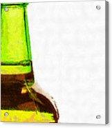 Bottle Neck Against White Painting Acrylic Print