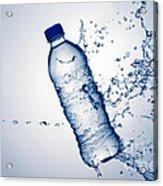 Bottle Water And Splash Acrylic Print