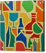 Bottles And Glasses 2 Acrylic Print
