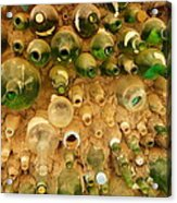 Bottles In The Wall Acrylic Print