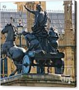 Boudicca Statue And Parliament 5805 Acrylic Print