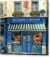 Boulangerie De Montmartre Acrylic Print