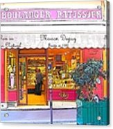 Boulangerie Patisserie In Paris Acrylic Print