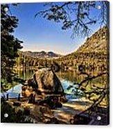Boulder At Fallen Leaf Lake Acrylic Print
