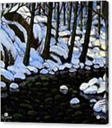 Boulder Brook In Winter Acrylic Print