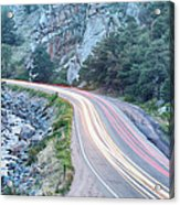 Boulder Canyon Drive And Commute Acrylic Print