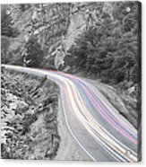 Boulder Canyon Drive And Selective Commute  Acrylic Print