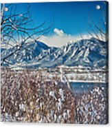 Boulder Colorado Winter Season Scenic View Acrylic Print