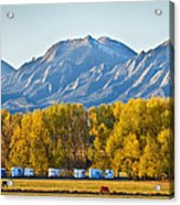 Boulder County Colorado Flatirons Autumn View Acrylic Print